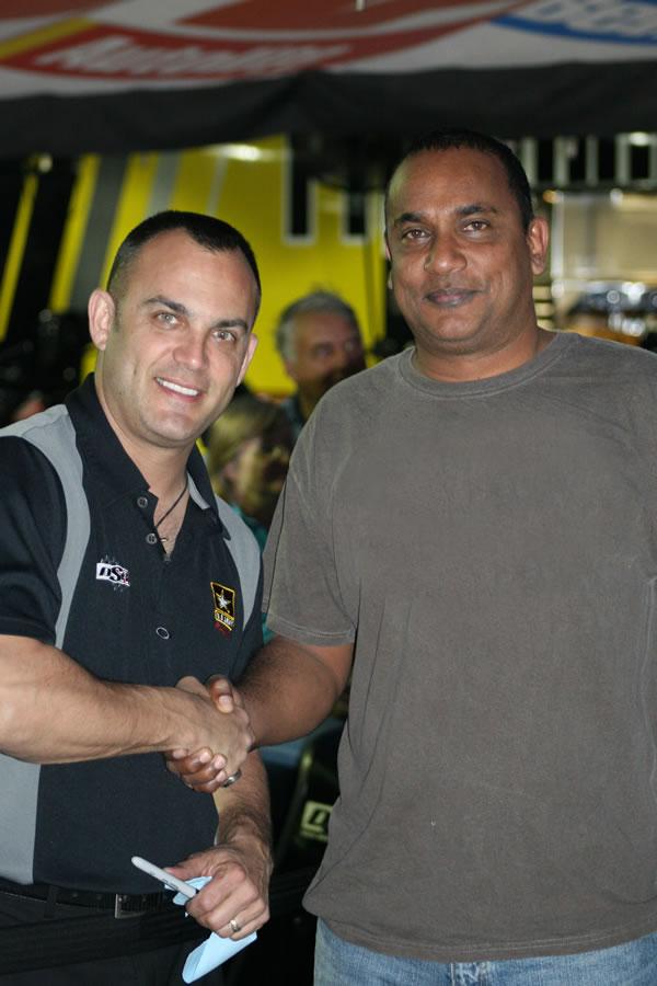 Sheldon Bissessar and Tony Schumacher