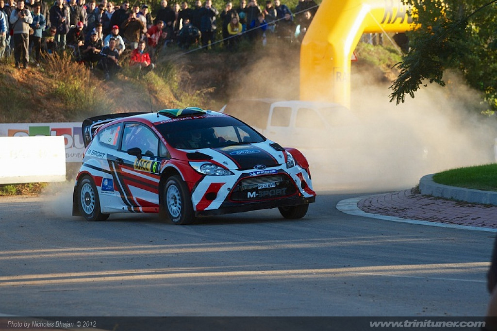 John Powell and Mike Fennel in their Ford Fiesta RS WRC at the Shakedown of Rally Spain