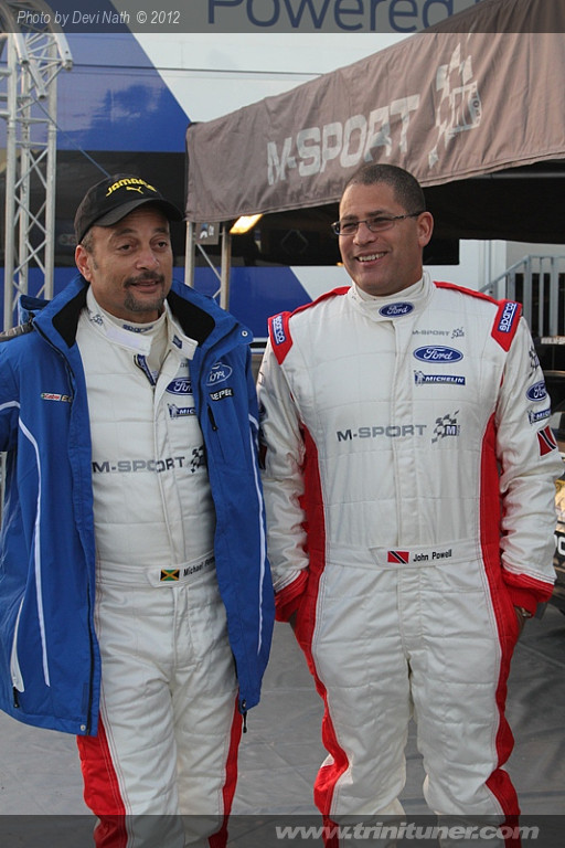 John Powell (right) and Mike Fennel at the Service Park in Salou, Spain.