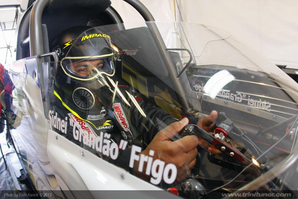 Rishi in Sidney`s TAD (Top Alcohol Dragster)