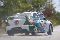 Sol Rally Barbados Day 2,SS 3 ' Lamberts'   Mark Thompson/Kurt Seabra - GUY (GpN Automotive Art/Stag Beer/Glassesco/NKM/Bio Beauty/SLAM 101.1FM Mitsubishi Lancer Evo IX),Image:Nicholas Bhajan Rally Photography