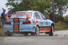 Sol Rally Barbados Day 2,SS 3 'Lamberts' Ryan Pinheiro – T&T/Ross Vieira – T&T (GpA Lange Trinidad Limited/Gulf Oil/Exedy Clutches Mitsubishi Lancer Evo V),Image:Nicholas Bhajan Rally Photography
