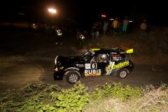 Sol Rally Barbados Day 1:Roger Mayers/Sean Corbin (SM2 Chefette/Rubis/Digicel/DHL/Hankook/Illusion Graphics WR Starlet). Image:Nicholas Bhajan Rally Photography