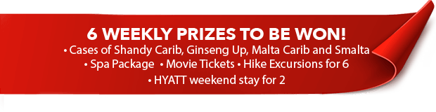 6 Weekly Prizes to be WON!