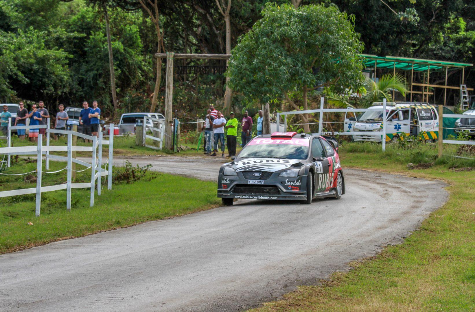 Overall winner and 2017 Barbados Rally Club Champion Driver Jeffrey Panton