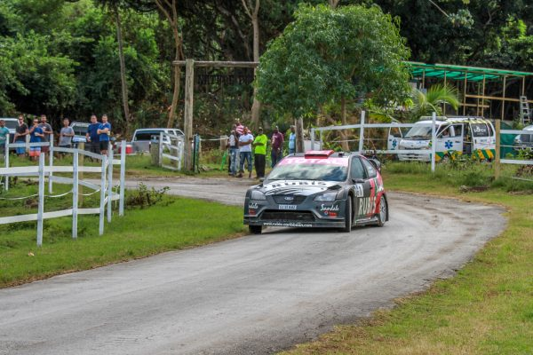 Overall winner and 2017 Barbados Rally Club Champion Driver Jeffrey Panton